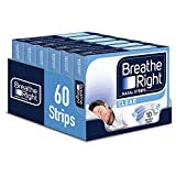 Breathe Right Nasal Strips, Snoring Congestion Relief for Men & Women, Small/Medium, Clear, Pack of 6 (60 Total Strips)