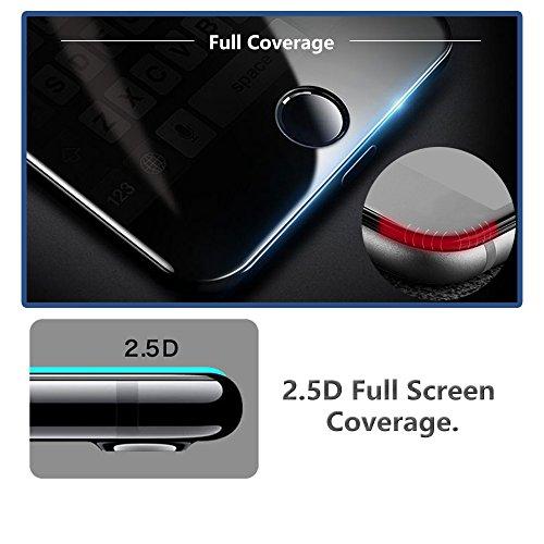 [2 Pack] Für Huawei Nova 2 Plus Panzerglas Schutzfolie (Schwarz), Displayschutzglas Panzerfolie für Huawei Nova 2 Plus Schutzglas Folie [Ultra-klar] [9H Härte] [Kristallklar] [Bubble Free] - 2