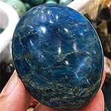 ACEACE 1 PCS Natural Azul Apatito Palm Piedra Raw Piedra de Piedras Preciosas Meditación de Cristal Mineral (Color : 100G, Size : 1PCS)