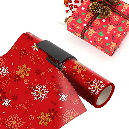 Wrapping Paper Cutter, Sliding Wrapping Paper Cutter Kraft Craft Paper Roll Gift Wrapping Paper Cutter Tool Tube Christmas/Birthday Present Easy Quick Cutter - 2 Pack Photo #6