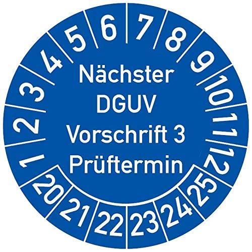 5-1.000 St/ück Pr/üfplaketten Pr/üfetiketten Wartungsetiketten BGV A3 Pr/üfung /Ø 30mm Gelb 5 St/ück