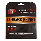 Tier One Sports Black Knight - Co-Poly Tennis String for The High Performance Player (Set - Black, 17 Gauge (1.23 mm) - 12,2 m Set)