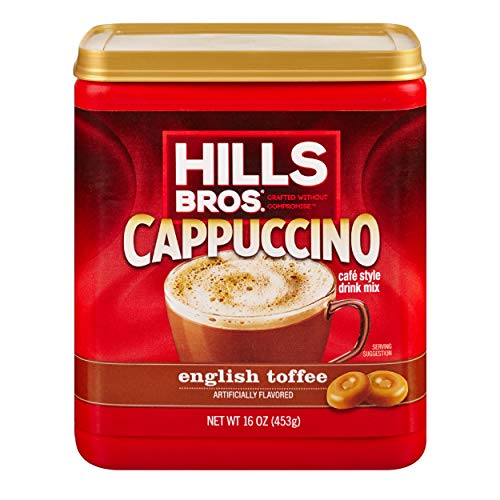 Hills Bros Cappuccino English Toffee 16oz