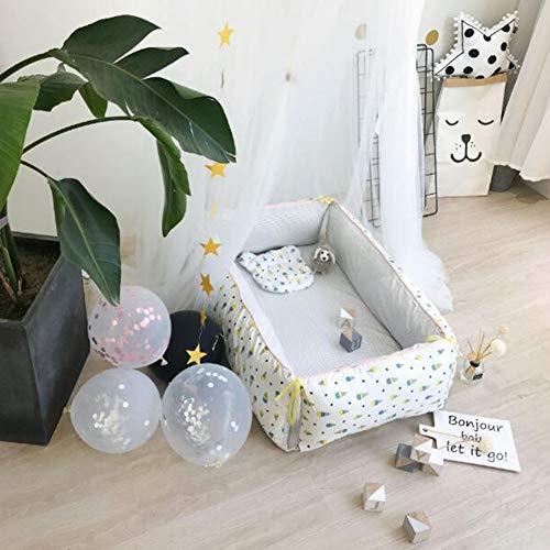 ZIXIANG Lits-Cages Baby Lounger Et Partage De Bébé Co Dormant Berceau Bébé 100% Coton Doux Cododo Lit Bébé Lits bébé Berceaux (Color : T4)