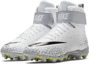 Nike Men's Force Savage Shark Football Cleat - White/Black-Wolf Grey - 880109-105