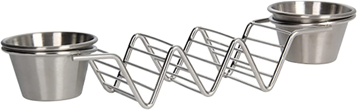 Max 44% OFF Prettyia Taco Holder Stainless Holder-Ta Spring new work Steel Trays