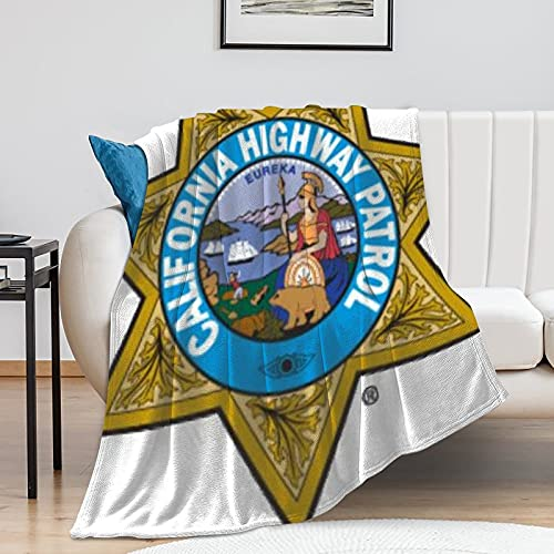 California Highway Patrol Manta – Pop Art – Gran tamaño – Super suave – Franela suave – 100 cm × 130 cm