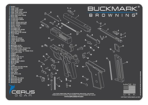 Cerus Gear Browning Buckmark Schematic Promat, Charcoal Gray/Cerus Blue