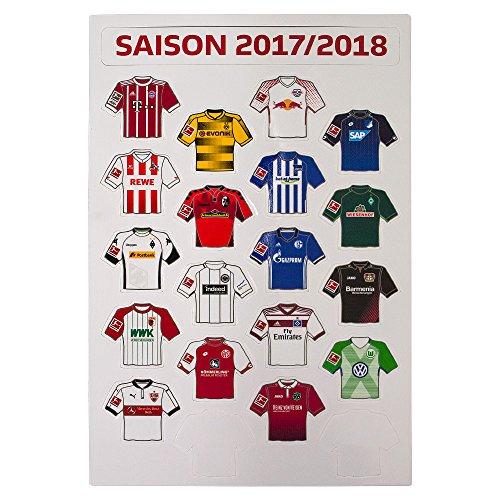 Am Ball Com GmbH Bundesliga - Magnetplatte Trikots Saison 2017/18
