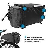 Roswheel Essentials Series 141465 Convertible Bike Trunk Bag Bicycle Rear Rack Pack Cycling Accessories Pannier, 7L Capacity