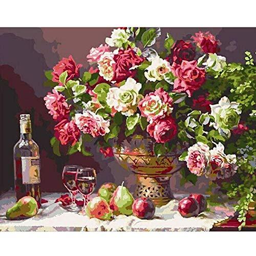 NR Wohnzimmer Bilder Druck auf Malerei Romantische Distel Bier Blume Leinwand Dekoration Kunst Bild (50x70 cm Kein Rahmen)