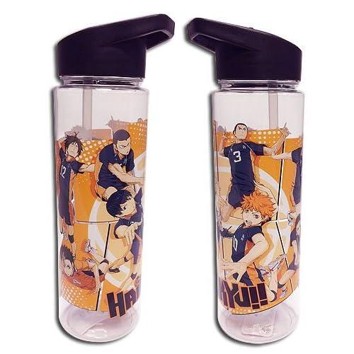 Haikyuu: Shoyo, Kageyama, Tsukishima, Nishinoya Group Spiking Water Bottle