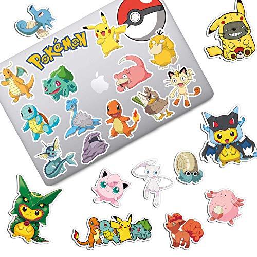 YUHANG Pokemon Pokémon Maleta para portátil Maleta de Dibujos Animados Maleta con Ruedas Nevera Impermeable 24 Piezas