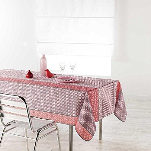 douceur d'intérieur nappe rectangle 150x200cm damara rose