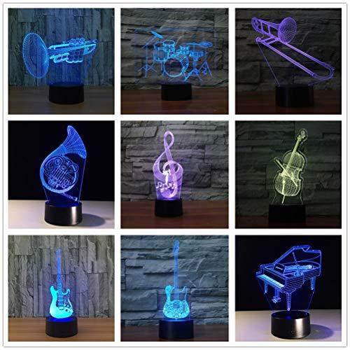 Instrumento Musical luz Cool Boy Dormitorio Noche luz decoración Bombilla niños Juguete niños Regalo