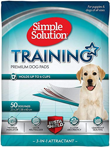 Simple Solution Training Pads for Dogs, Premium, 23x24 Inch, 50 Count, 4 Pack