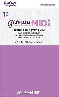 Gemini Midi Machine de découpe et d'embossage manuelle Accessoires en plastique Violet 15,2 x 22,9 cm