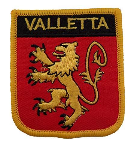 1000 Flaggen Valletta Malta Aufnäher, bestickt