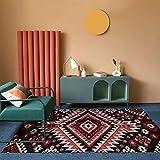 MENEFBS Alfombra de cabecera, alfombra de piel de oveja, para salón, dormitorio, sofá, suelo, 120 x 160 cm