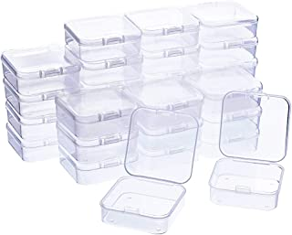 WXJ13 30 Pack Bead Storage Box with Lids Small Bead Storage Containers 2.1x 2.1 x 0.8 Inch