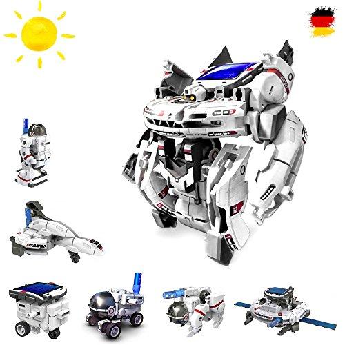 7 in 1 Roboter Konstruktions-Bauset mit Solar, Droide, Baukasten-Set Solar-Kit Elektrisches pädagogisches Konstruktions-Bauset mit Solar Wissenschaft Exprementieren, Antrieb durch Sonnenlicht