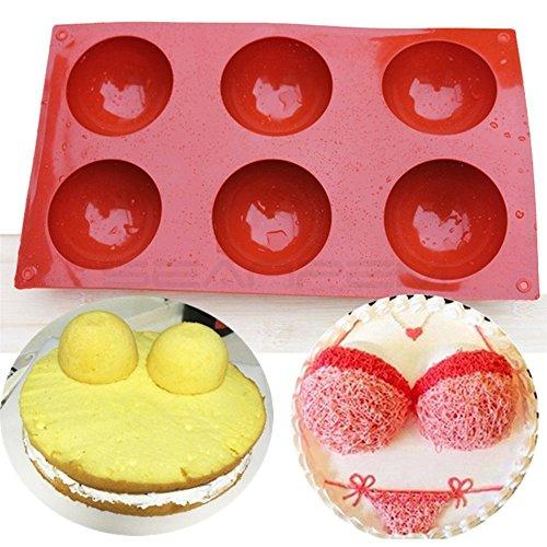 DIY Bakeware Ensemble de moule en silicone pour décoration de gâteaux Jelly Pudding Candy Chocolat ustensile de cuisine Accessoires pour famille fête d'anniversaire 6 trous #1