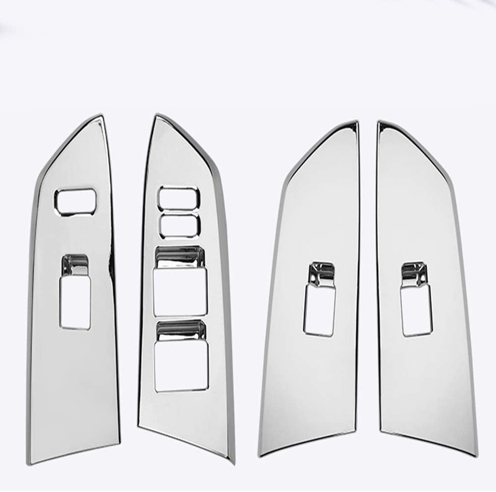 Genericss ABS Chrome for Tundra Crewmax 2014 2015 2016 2017 2018 2019 Interior Door Window Switch Panel Cover Trim Car Accessories