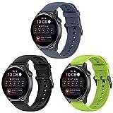 Yaspark Correa Compatible con Huawei Watch 3/Watch 3 Pro, Correa de silicona de liberación rápida de 22 mm Correa para Huawei Watch GT2 Pro/GT 2 46mm/Galaxy Watch 3 45mm/Gear S3 Frontier