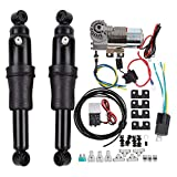 Motorcycle Adjustable Rear Air Ride Suspension Kit for Harley Touring Road King...