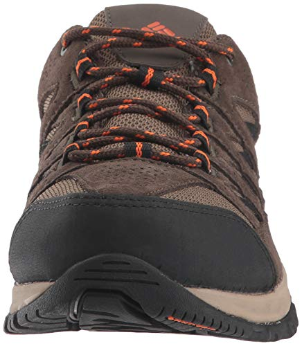 Columbia Men's Crestwood Hiking Shoe, camo Brown, Heatwave, 12 Wide