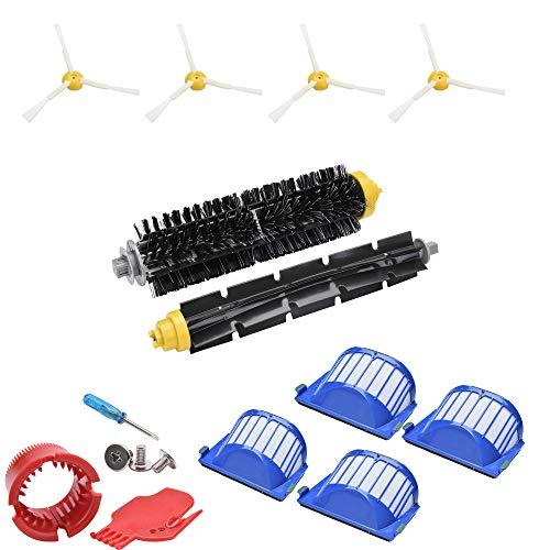 Accessoires de remplacement pour iRobot Roomba 675 676 677 645 655 Kit filtre HEPA pour rouleau de brosse latérale