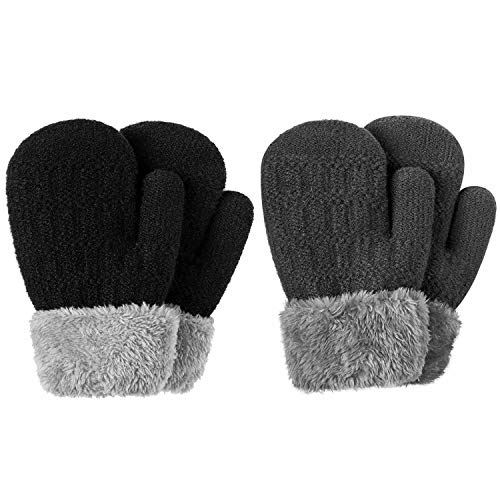 Kids Boys Girls Children Black Magic Gloves Winter Warm Stretchy fit