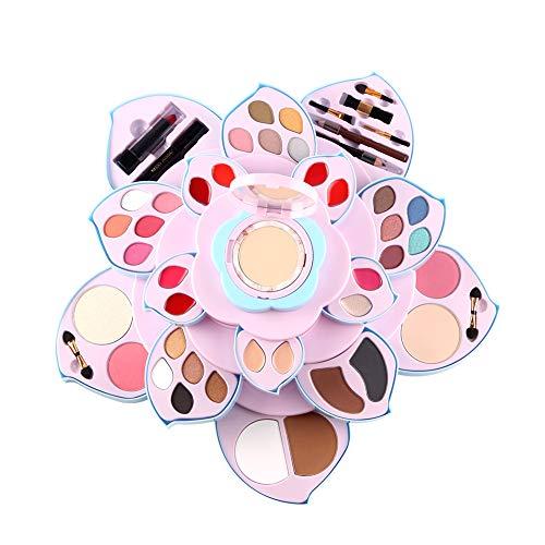 Shogpon Cosmétiques Fard à Paupières Maquillage Palette Kit avec Correcteur, Fards à Joues, Poudres pour le Visage, Brillant à lèvres et Poudres de Sourcils - Fleurs en Fleur