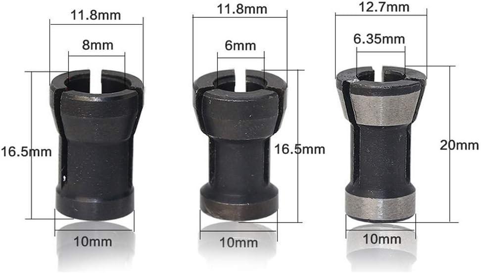 6,35 millimetri Adattatore Testa Mandrino Colata Falegnameria Taglierina Fresatrice Router Alta Precisione