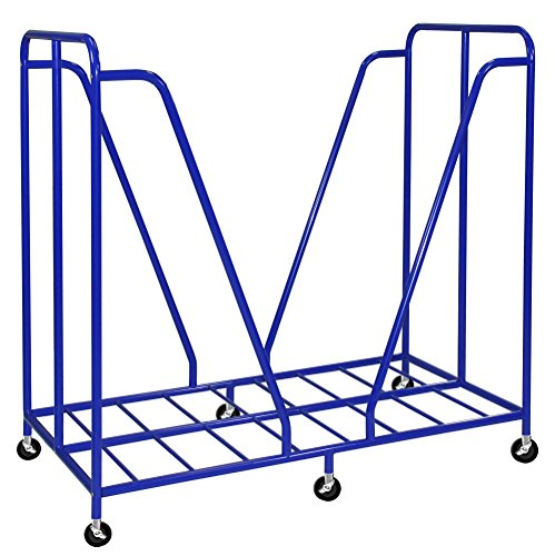 ECR4Kids ELR-0668 Mobile Rest Mat Storage Trolley with Casters, Blue