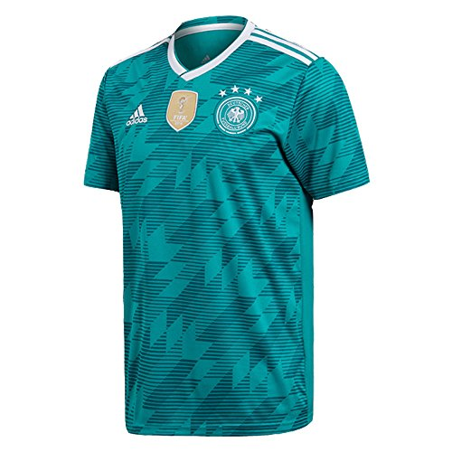 adidas Herren DFB Away Jersey Authentic 2018 Trikot, EQT Green s16/White/Real Teal s10, XS