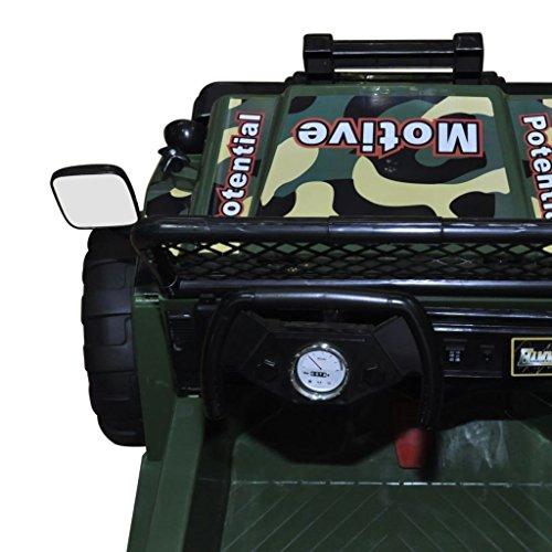 RC Kinderauto kaufen Kinderauto Bild 1: vidaXL Kinderauto Elektroauto Kinderfahrzeug Kinder Fahrzeug 2-Sitzer Armeegrün*