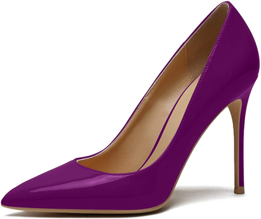 BloomSeas Women's Pumps Stiletto Weekly Special Campaign update Slip-O High Patent-Leather Heel