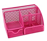 Generic Büro Schreibtisch Organizer Stiftehalter Mesh Stationery Behälter pink