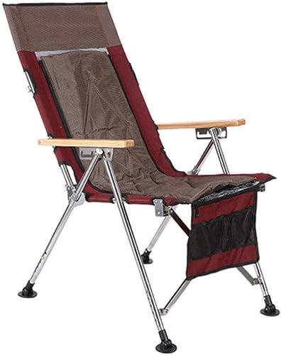 NIUZIMU Chaise de pêche Portable Pliante Camping Chaise de Loisirs en Plein air avec Bras, épaississement en Aluminium Fournitures de pêche Polyvalente Articles de pêche