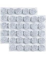 ギノヤ 5mm厚めフェルトパッド, 50枚入り 25mm 丸い家具保護パッド キズ防止・防音 (グレー)