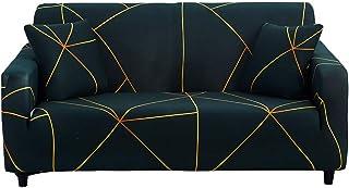 Hotniu Funda Sofa Elasticas 3 Plazas Fundas de Sofa Ajustables Fundas Decorativa para Sofá Estampadas Impresa Cubre Sofa con 1 Funda de Cojín, Patrón Lgyc