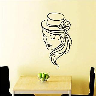 Stickers muraux mode décoration murale autocollants 32X58 cm salon de coiffure autocollants beauté ciseaux décalcomanies c...