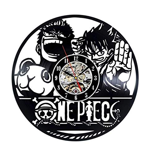 Pmhhc Cute Cartoon Wall Clock Decorative Bedroom CD Record Clocks Creative Style Gift for Children Hanging Wall Decor Silent
