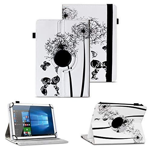 NAUC Tablet Hülle kompatibel für Wortmann Terra PAD 1005 Tasche Schutzhülle Cover Hülle 360 Drehbar Kunst-Leder, Farben:Motiv 8
