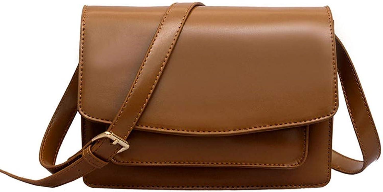 H-M-STUDIO New Autumn and Winter Retro Crossbody Shoulder Bag Coffee color 17  23  7Cm