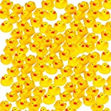 Mini Rubber Ducks Duckie Baby Shower Birthday Party Favors (1.5', 100 pack)