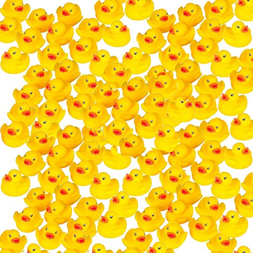 "Mini Rubber Ducks Duckie Baby Shower Birthday Party Favors (1.5"", 100 pack)"