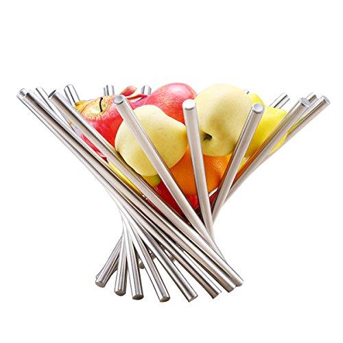 Creative Fruit Display Cestino Pieghevole In Acciaio Inossidabile Fruttiera Per Tavolo Da Cucina Decorativa