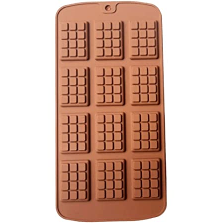 Mini Chocolate Mold Silicone Mold Fondant Molds DIY 3D Candy Bar Mould Cake Decoration Tools Kitchen Baking Accessories Ideal for Chocolate and Cake Decoration (1 Piece)